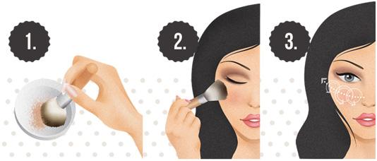 Makijaż mineralny - Aplikacja na sucho